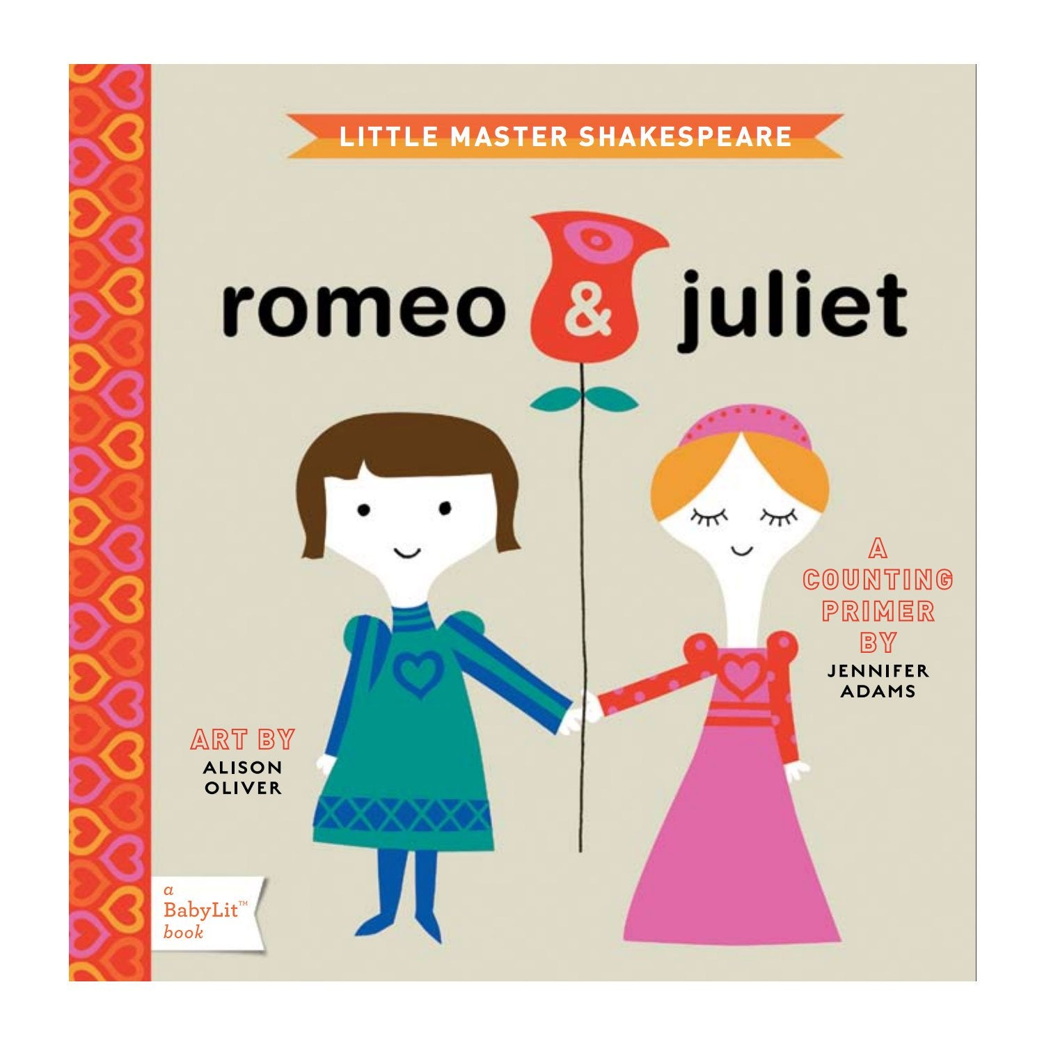 Romeo and Juliet Baby Board Book Babylit Books at Little Earth Nest Eco Shop