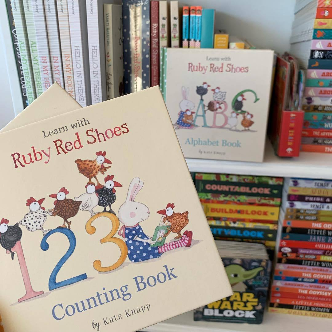 Ruby Red Shoes Counting Book Little Earth Nest Books at Little Earth Nest Eco Shop