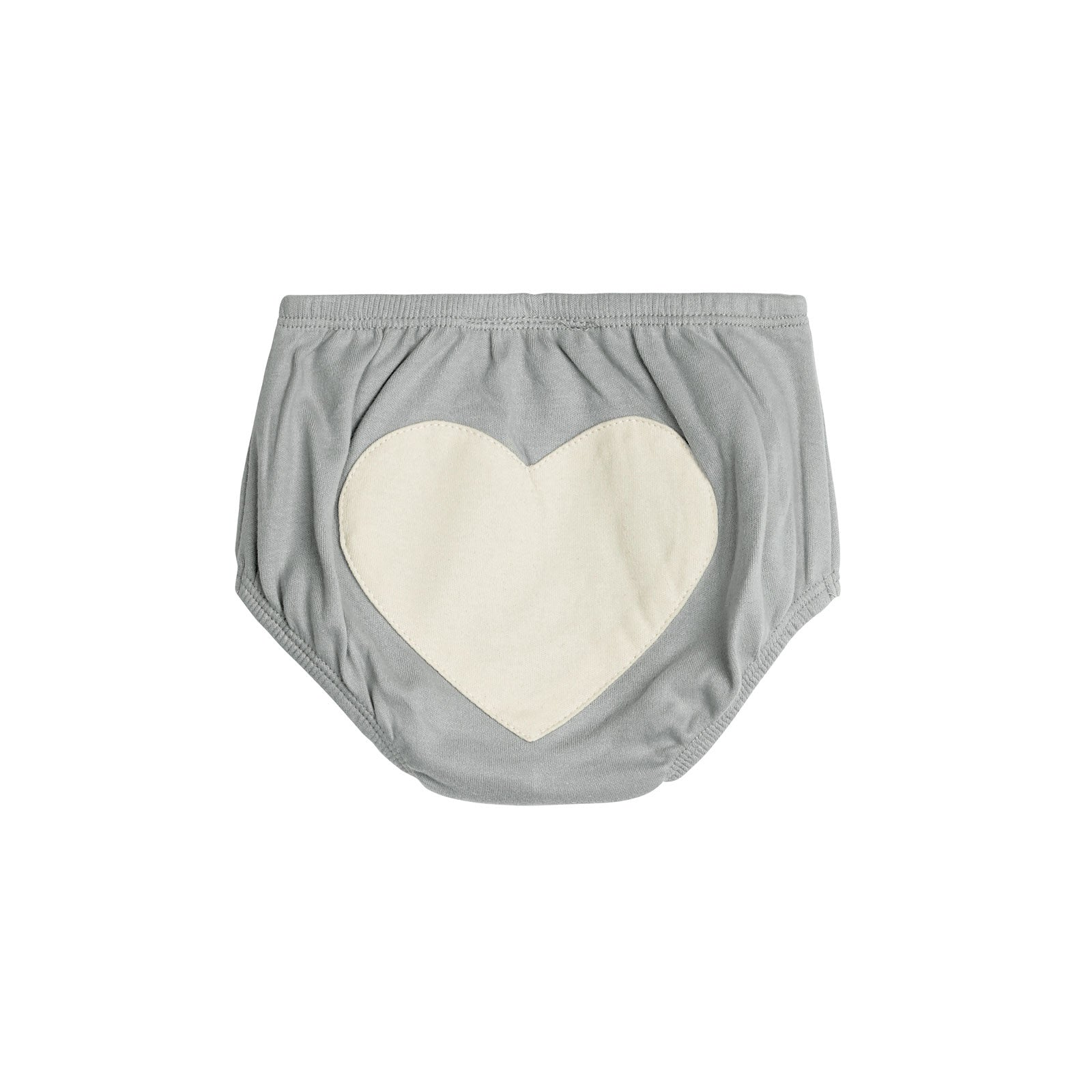 Sapling Child Essentials Heart Bloomers  3-6M / Dove Grey - Sapling Child - Little Earth Nest - 5