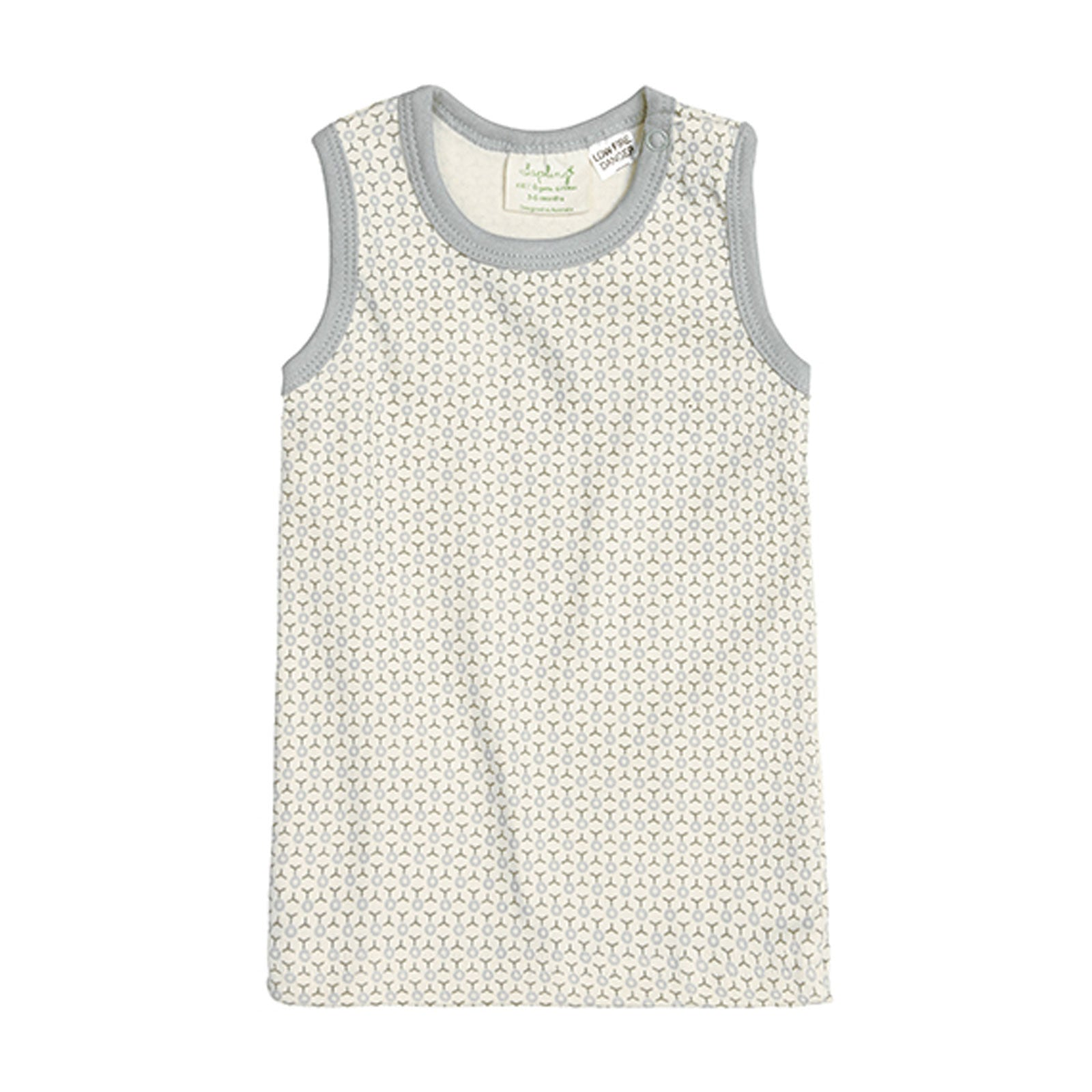 Sapling Child Essentials Tank Sapling Child Baby & Toddler Clothing 3-6M / Dove Grey at Little Earth Nest Eco Shop