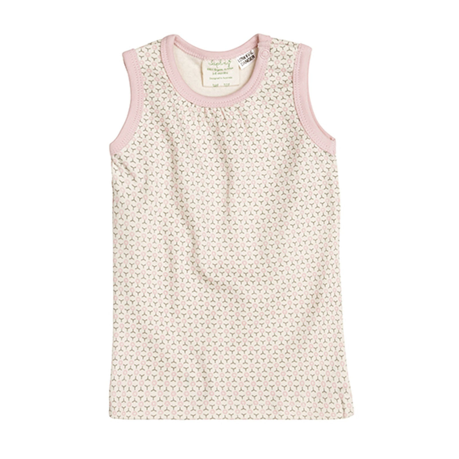 Sapling Child Essentials Tank Sapling Child Baby & Toddler Clothing 0-3M / Dusty Pink at Little Earth Nest Eco Shop