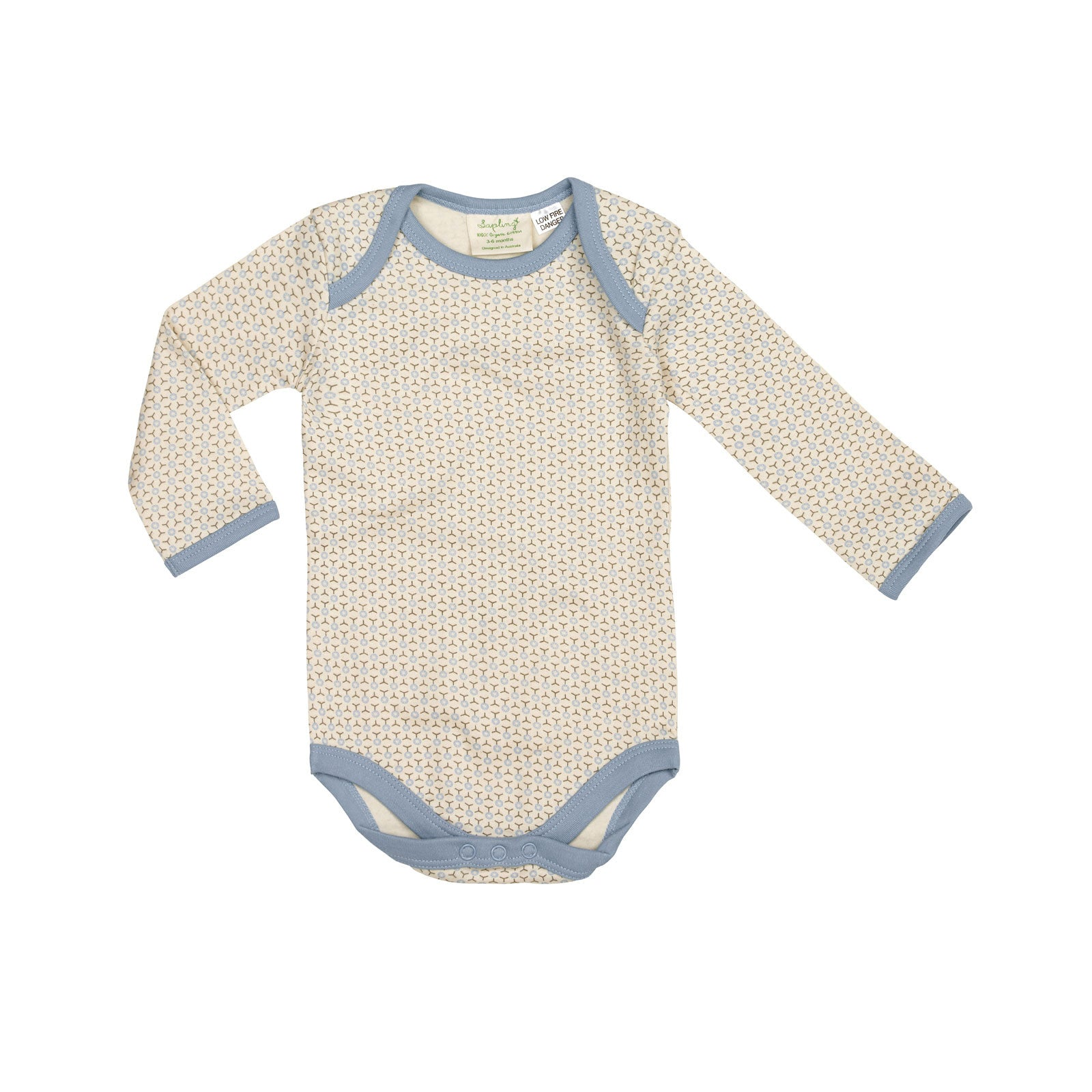 Sapling Child Essentials Long Sleeve Bodysuit Sapling Child General 0-3M / Little Boy Blue at Little Earth Nest Eco Shop