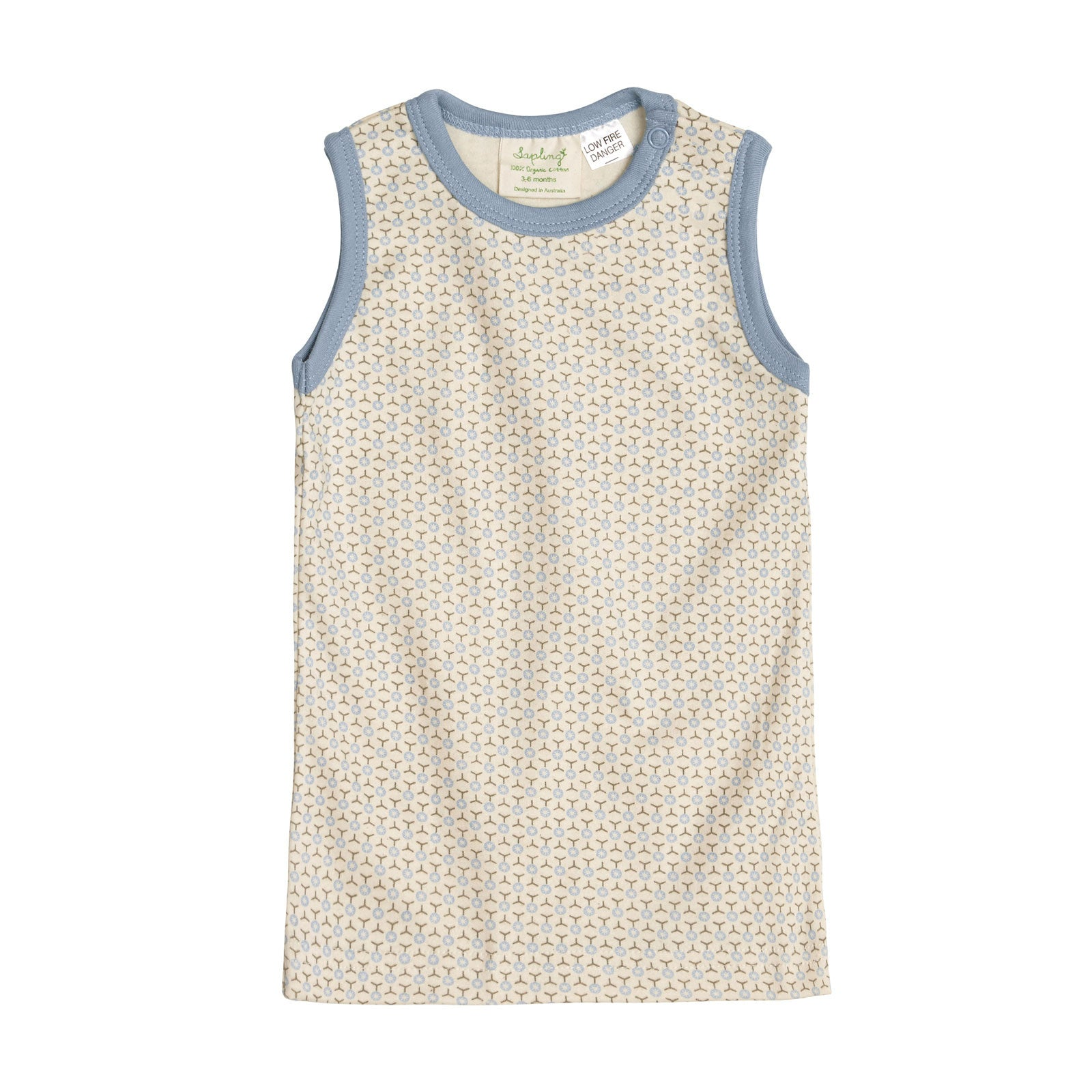 Sapling Child Essentials Tank Sapling Child Baby & Toddler Clothing 0-3M / Little Boy Blue at Little Earth Nest Eco Shop