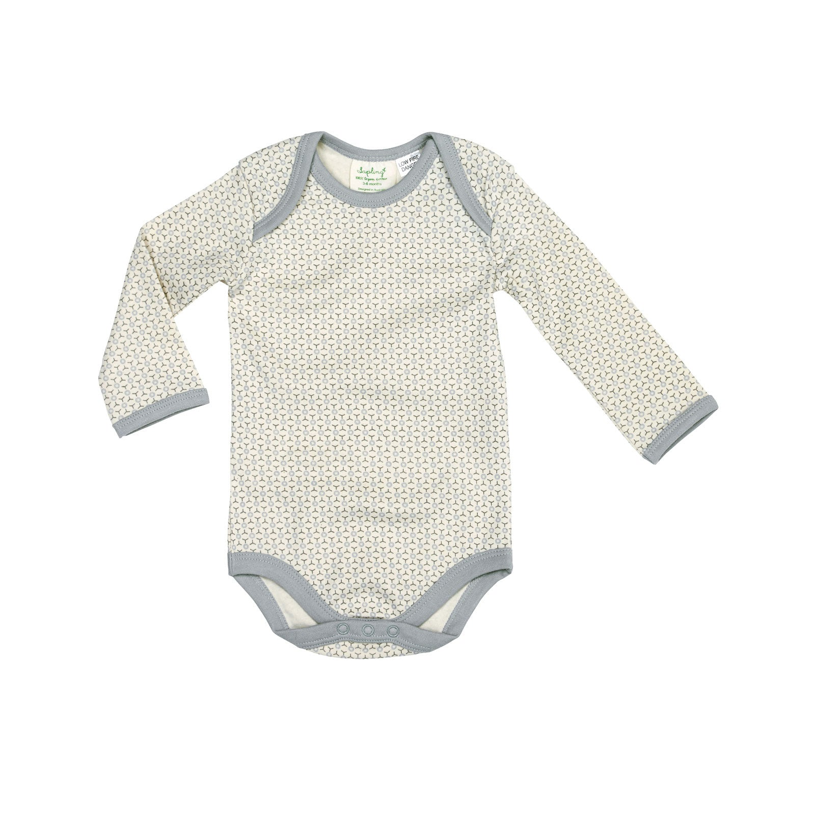 Sapling Child Essentials Long Sleeve Bodysuit Sapling Child General 3-6M / Dove Grey at Little Earth Nest Eco Shop