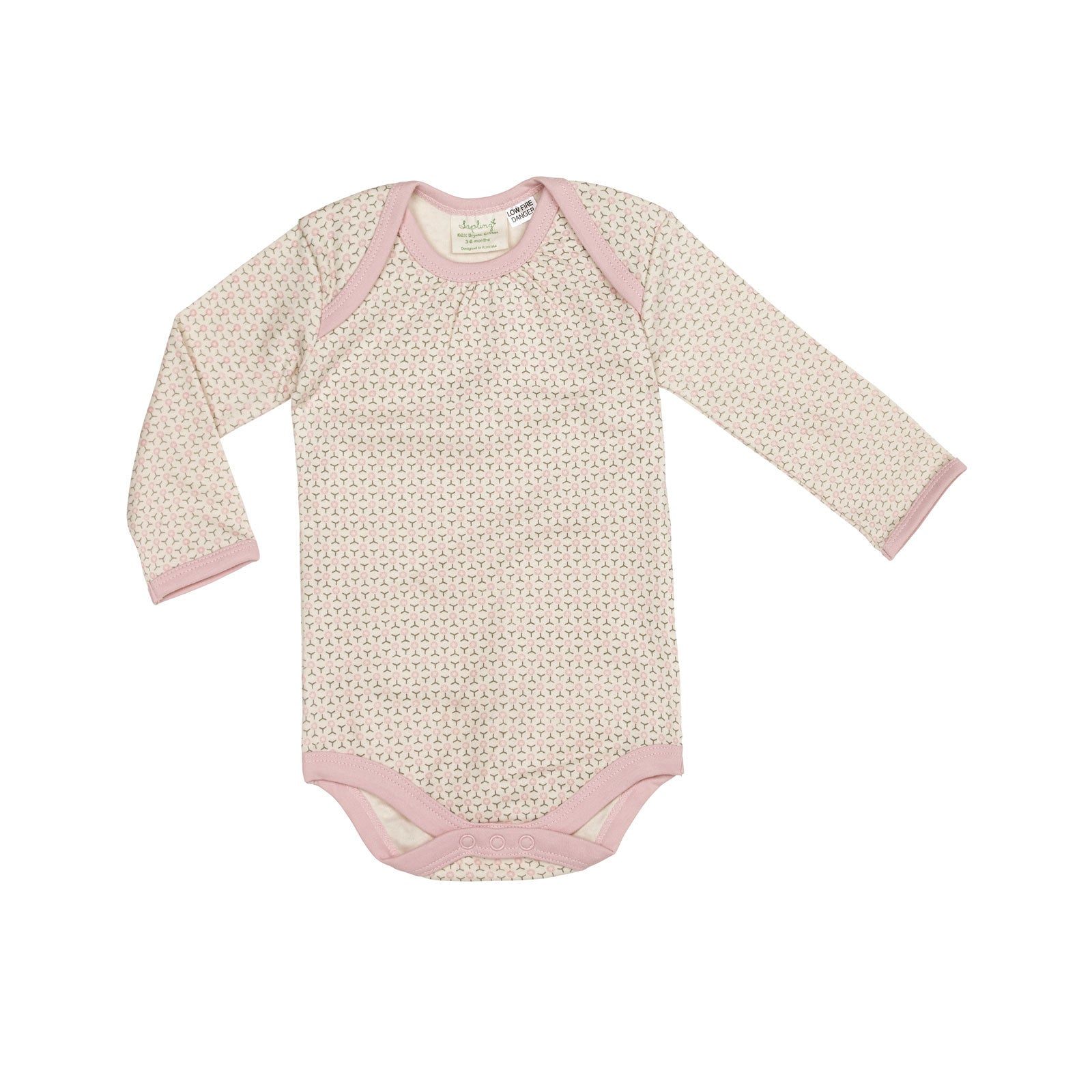 Sapling Child Essentials Long Sleeve Bodysuit Sapling Child General 0-3M / Dusty Pink at Little Earth Nest Eco Shop