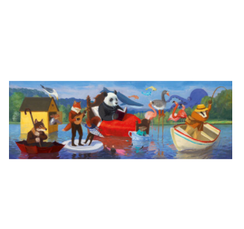 Djeco Summer Lake Puzzle Gallery 350 pieces Djeco Puzzle at Little Earth Nest Eco Shop
