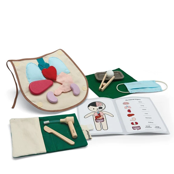 Plan Toys Wooden Surgeon Set PlanToys Pretend Play at Little Earth Nest Eco Shop