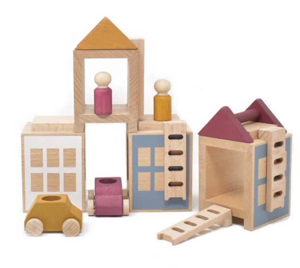 Lubulona Wooden Town Maxi Lubulona Wooden Toys Autumnvale at Little Earth Nest Eco Shop