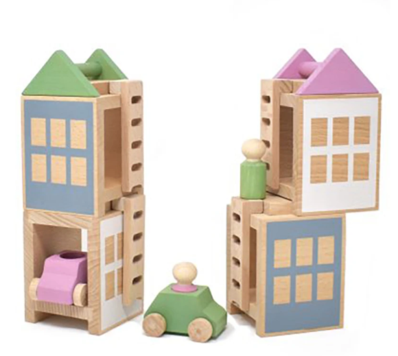 Lubulona Wooden Town Maxi Lubulona Wooden Toys at Little Earth Nest Eco Shop