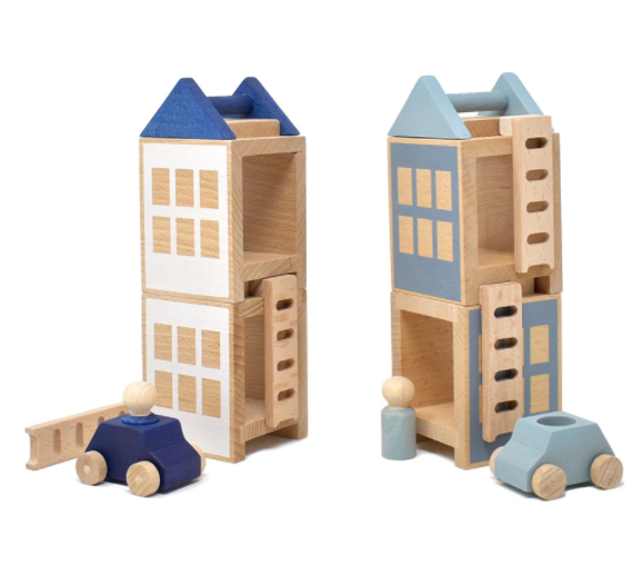 Lubulona Wooden Town Maxi Lubulona Wooden Toys Winterburg at Little Earth Nest Eco Shop