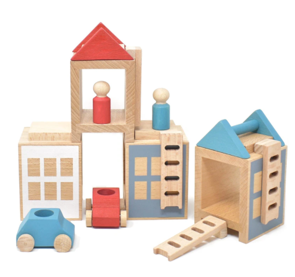 Lubulona Wooden Town Maxi Lubulona Wooden Toys Summerville at Little Earth Nest Eco Shop