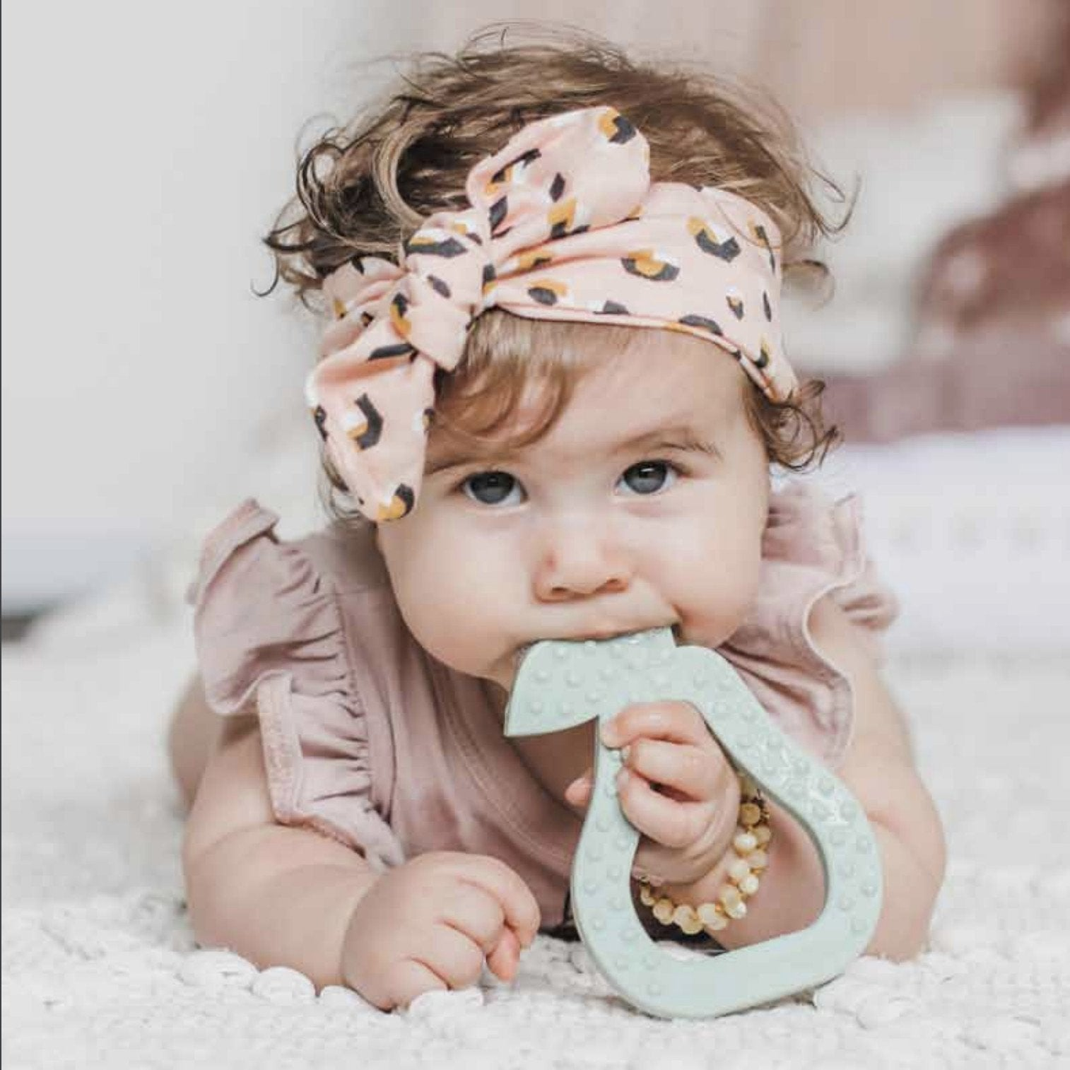 Pear Teether Little Giggles General at Little Earth Nest Eco Shop