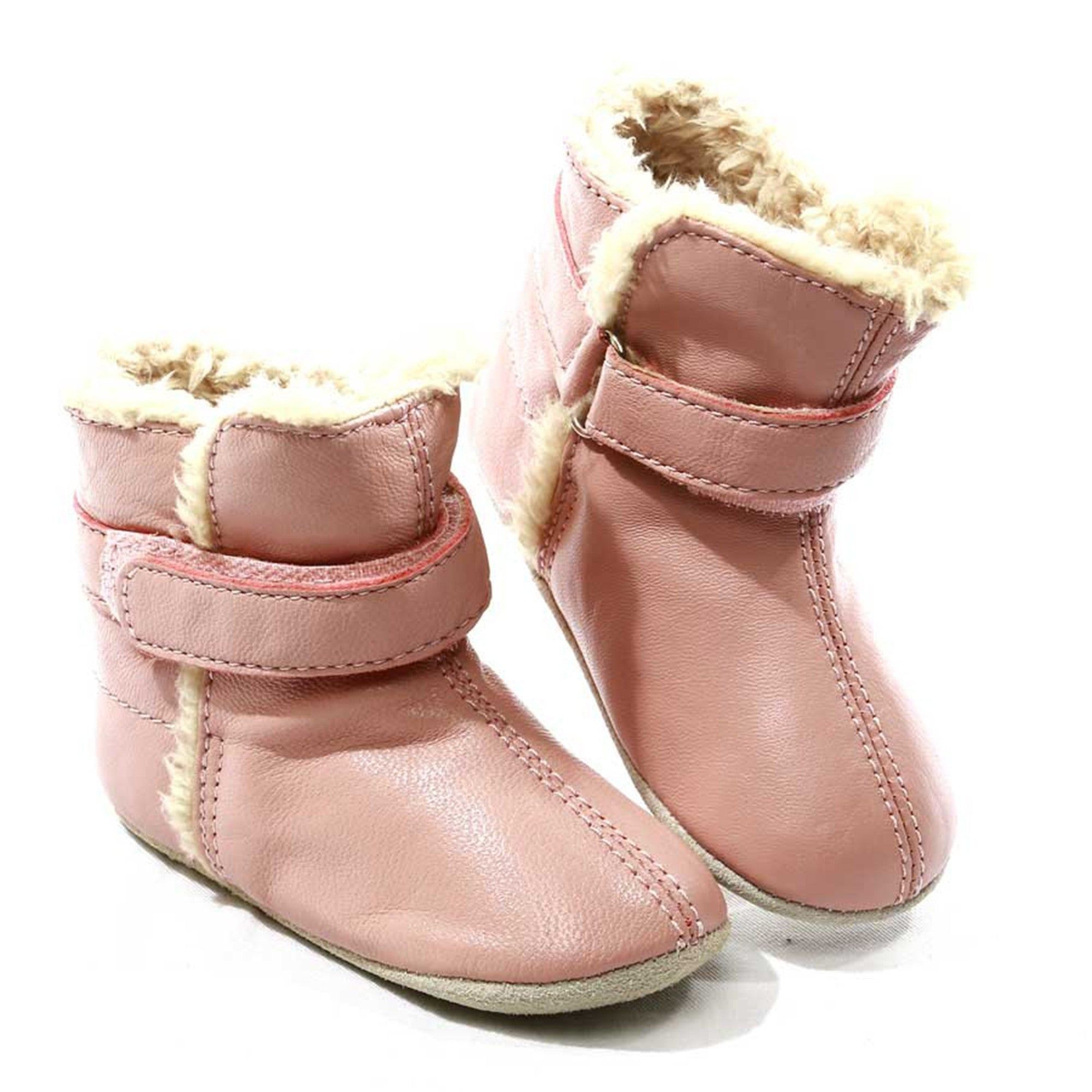 Skeanie Infant Snug Skeanie Shoes S / Pink at Little Earth Nest Eco Shop