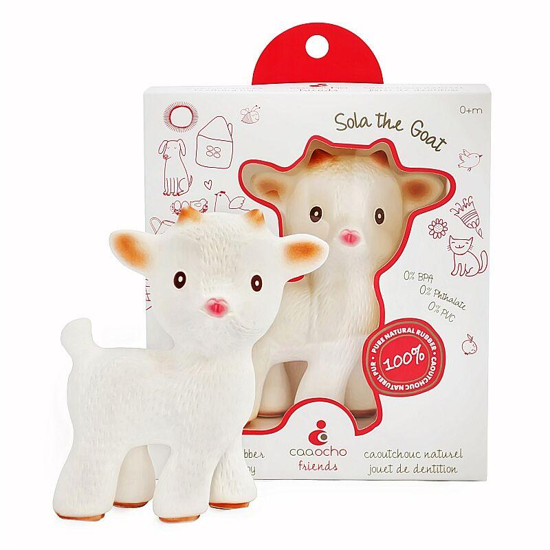 Caaocho Sola The Goat Caaocho Dummies and Teethers at Little Earth Nest Eco Shop