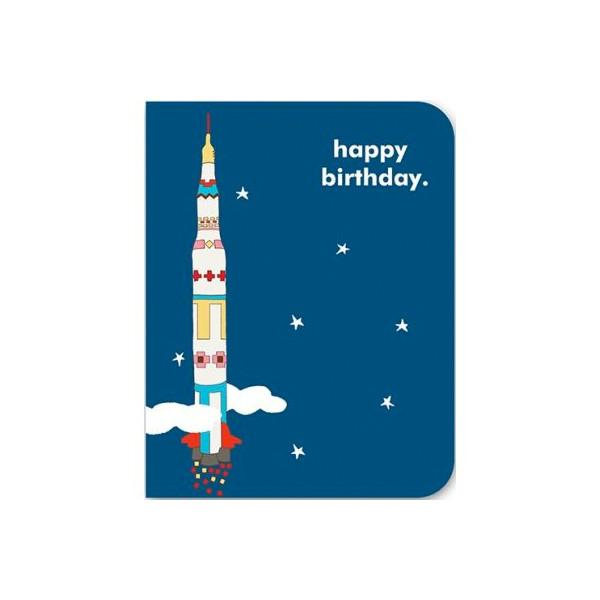 Space Happy Birthday Card Little Earth Nest Greeting & Note Cards at Little Earth Nest Eco Shop