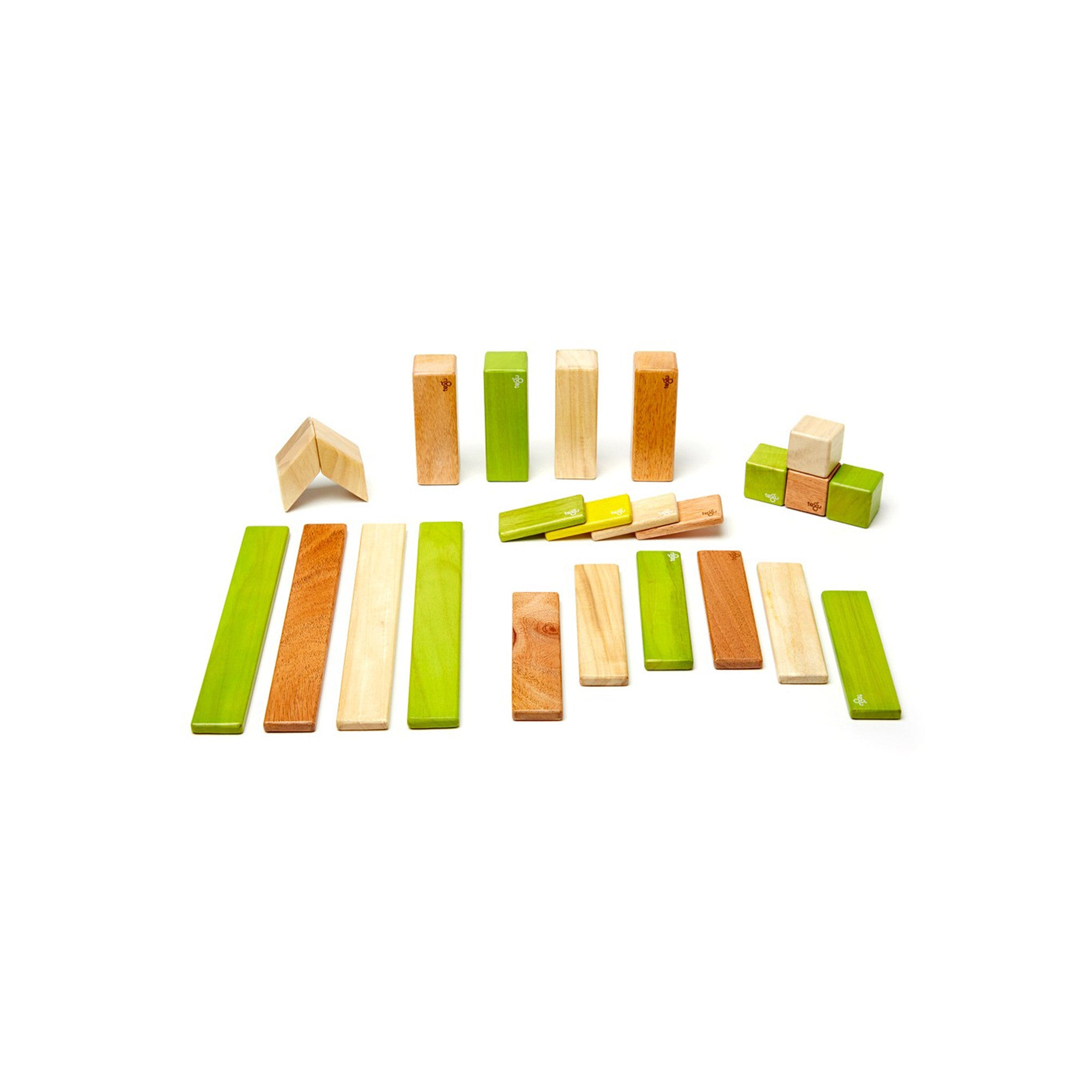 Tegu 24 Piece Set Magnetic Block Set Tegu Magnet Toys Jungle at Little Earth Nest Eco Shop