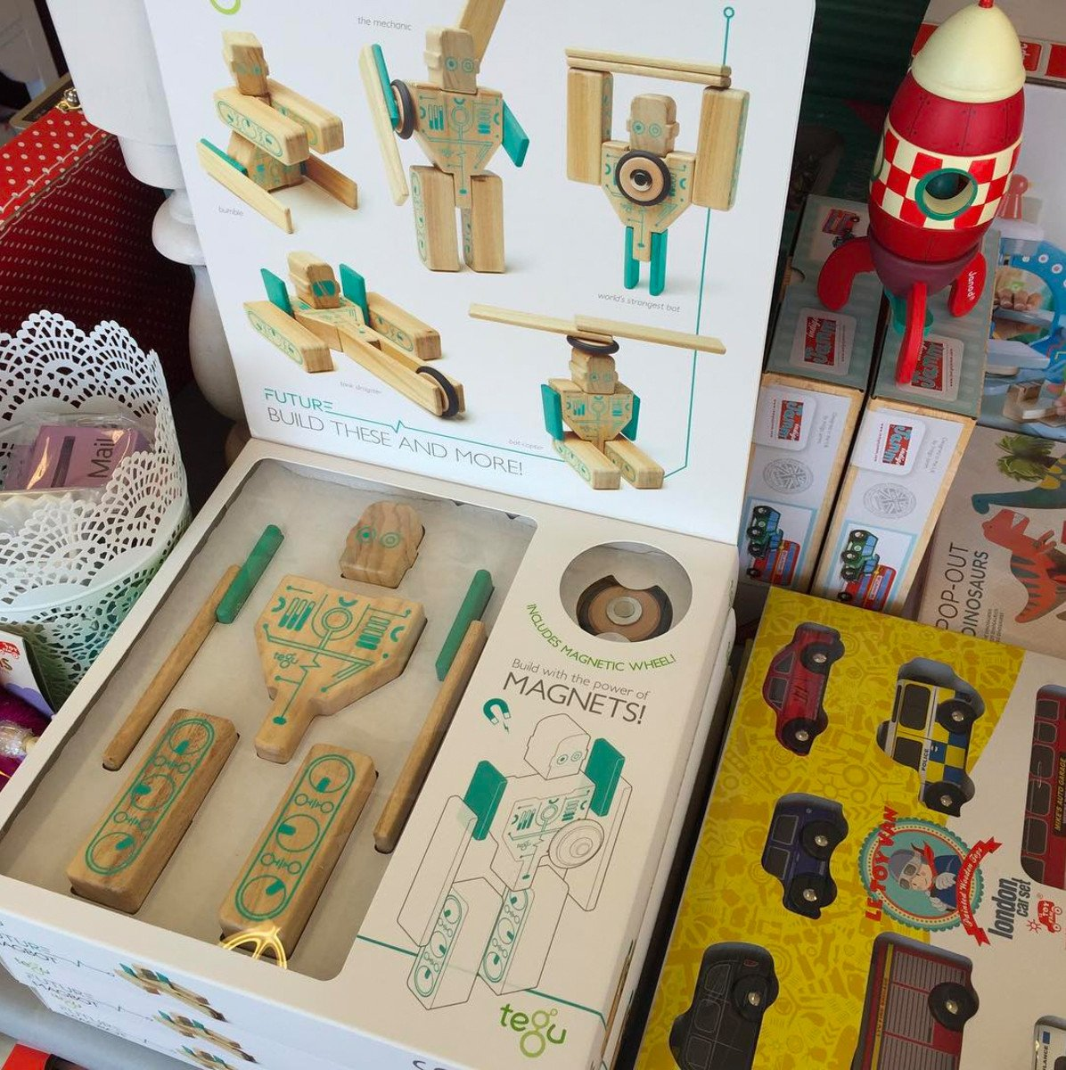 Tegu Future Magbot 9 Piece Set Tegu Magnet Toys at Little Earth Nest Eco Shop