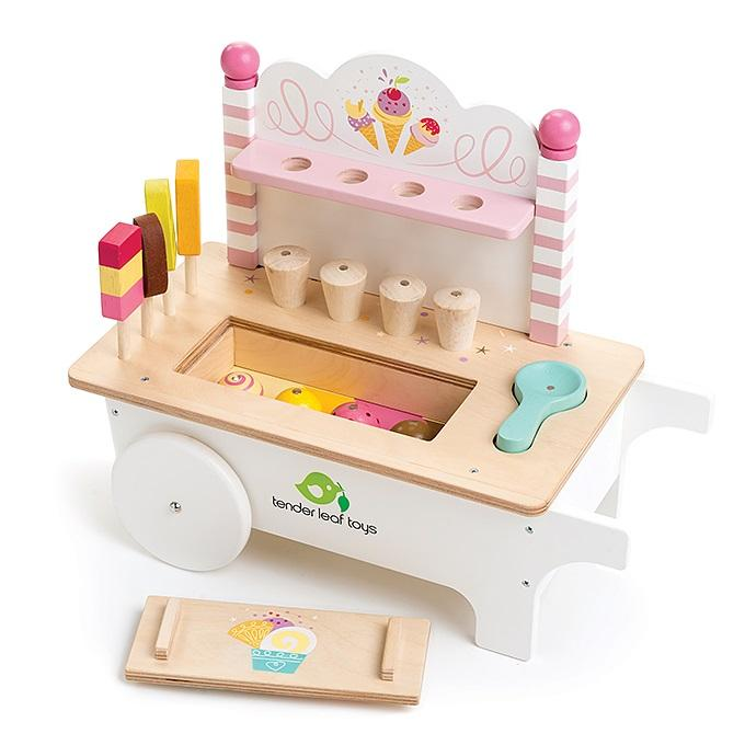 Wooden Toy Icecream Cart by Tenderleaf Toys