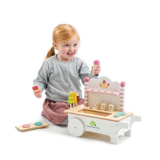 Wooden Toy Icecream Cart by Tenderleaf Toys Tenderleaf Toys Pretend Play at Little Earth Nest Eco Shop