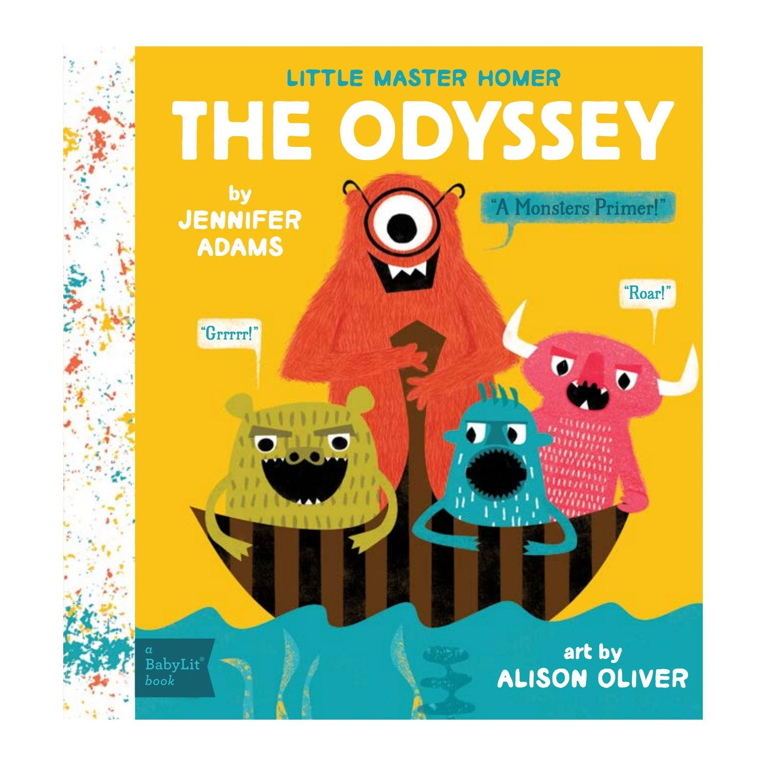 The Odyssey A Monsters Baby Board Book Babylit Books at Little Earth Nest Eco Shop