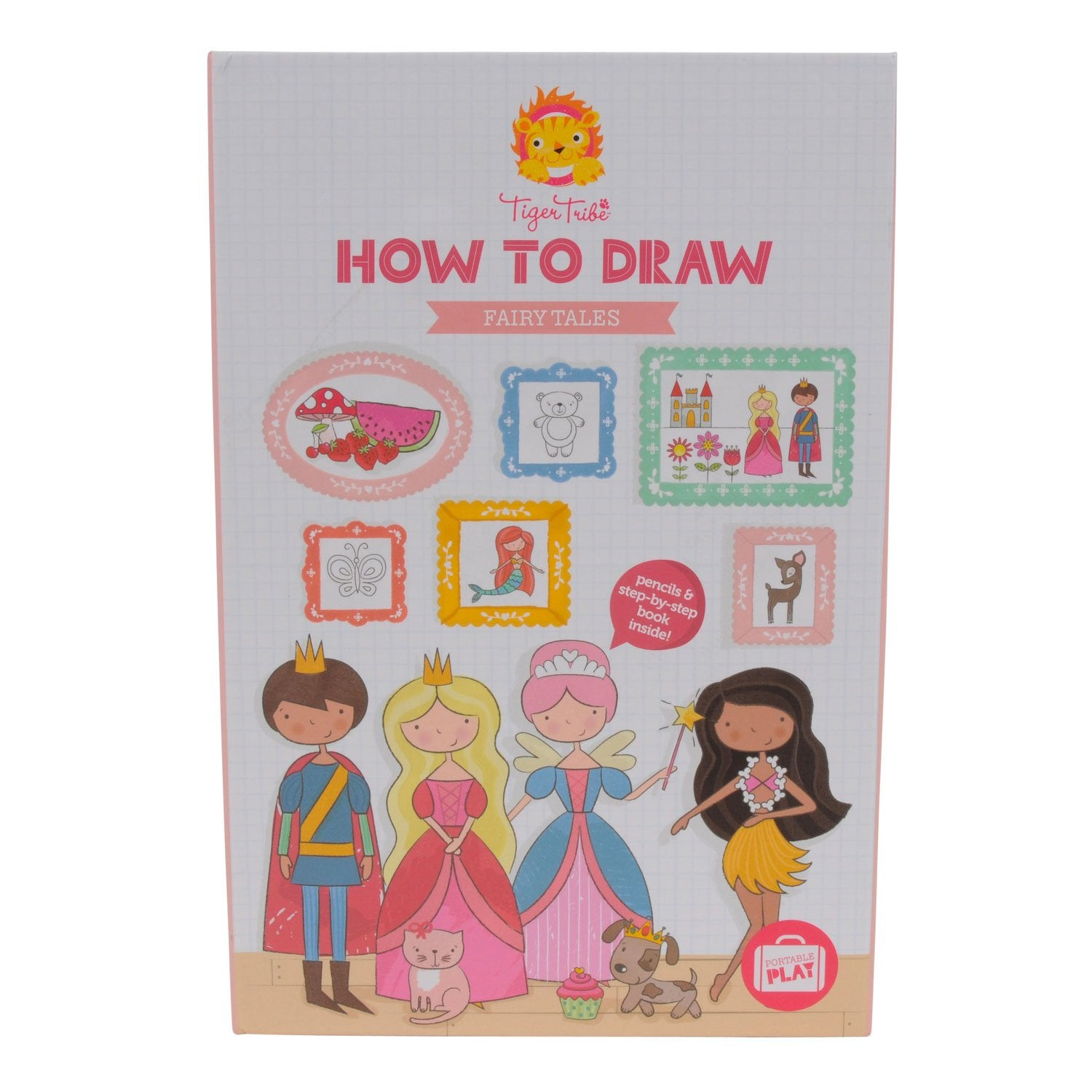 Tiger Tribe How to Draw Set Tiger Tribe Art and Craft Kits Fairy Tales at Little Earth Nest Eco Shop