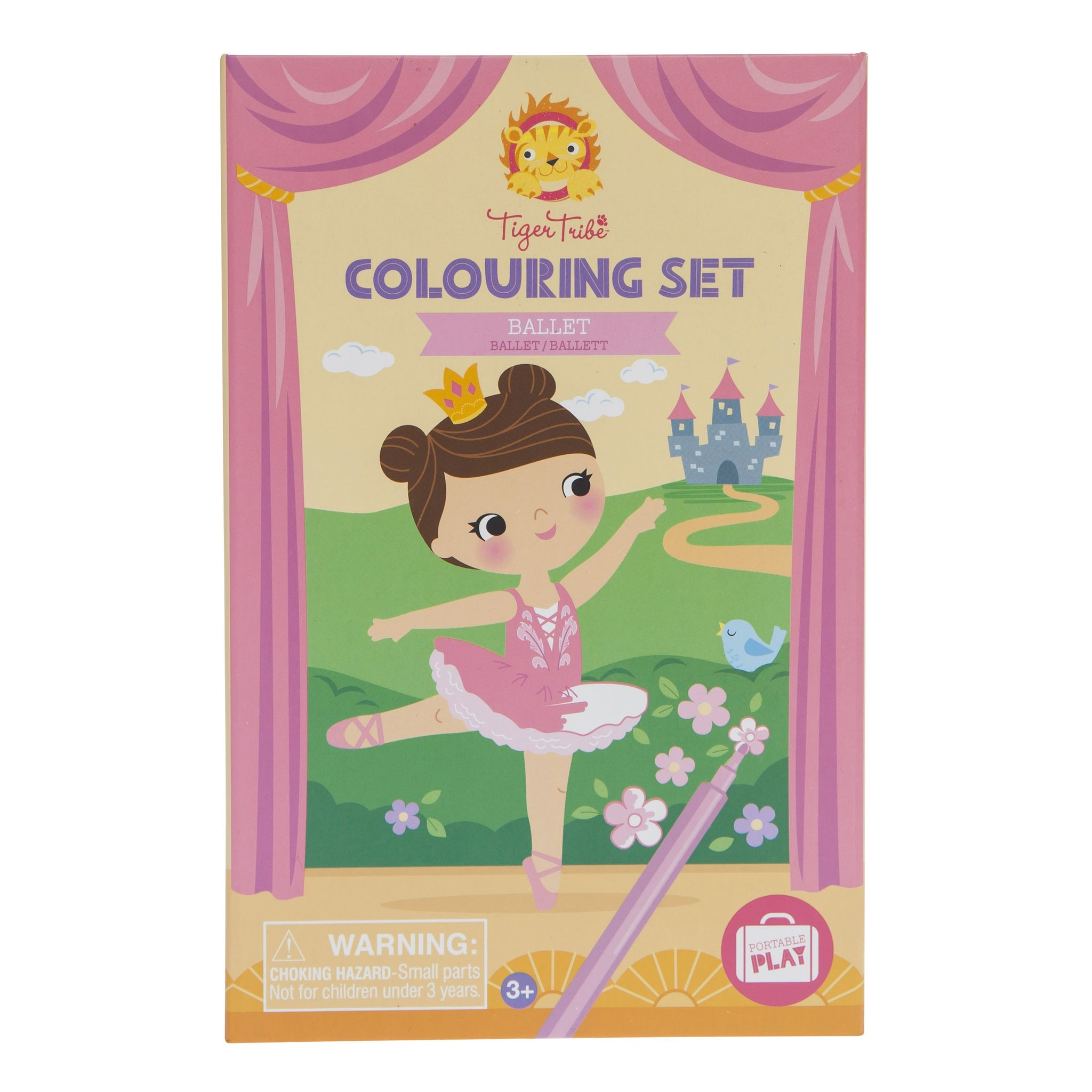 Tiger Tribe Colouring Set Tiger Tribe Activity Toys Ballet at Little Earth Nest Eco Shop