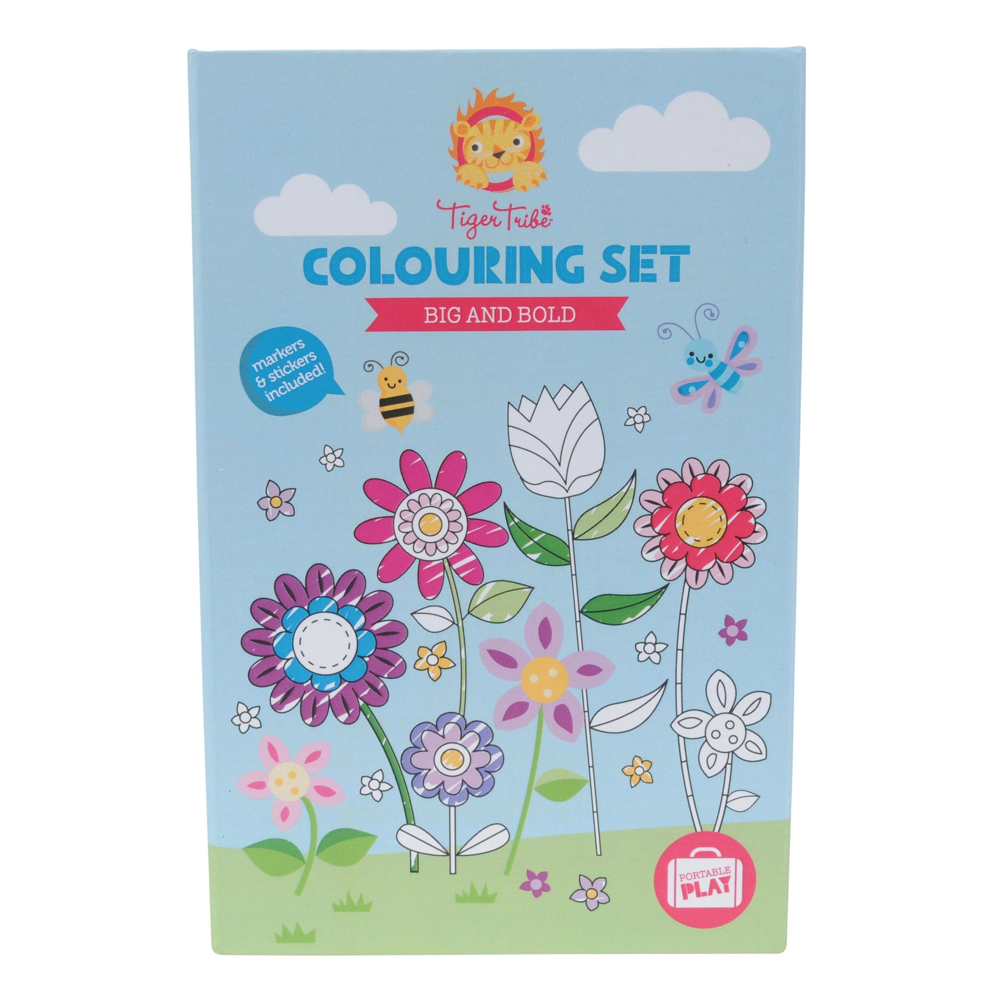 Tiger Tribe Colouring Set Tiger Tribe Activity Toys Big & Bold at Little Earth Nest Eco Shop
