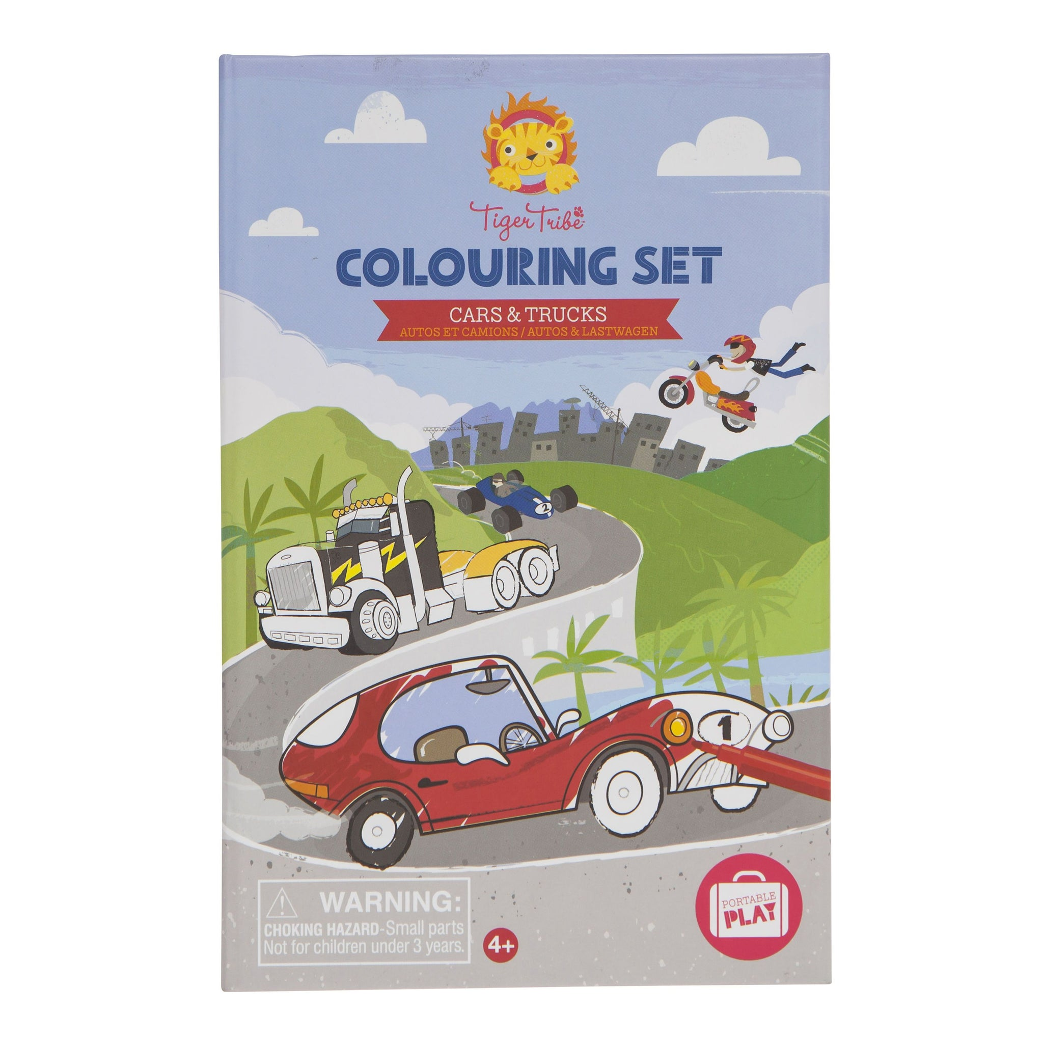 Tiger Tribe Colouring Set Tiger Tribe Activity Toys Cars & Trucks at Little Earth Nest Eco Shop