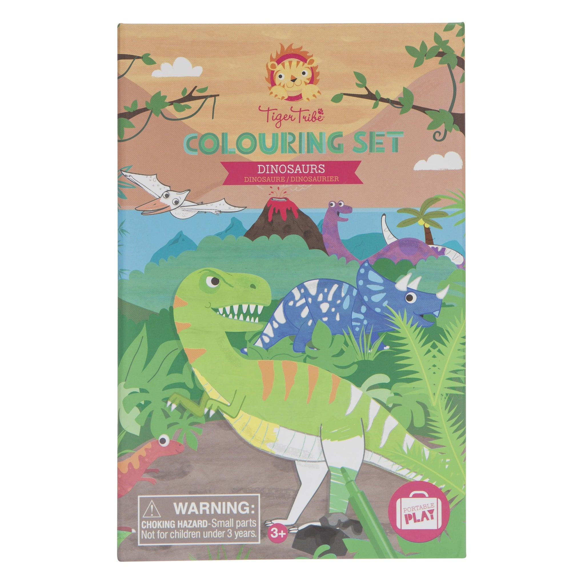 Tiger Tribe Colouring Set Tiger Tribe Activity Toys Dinosaurs at Little Earth Nest Eco Shop