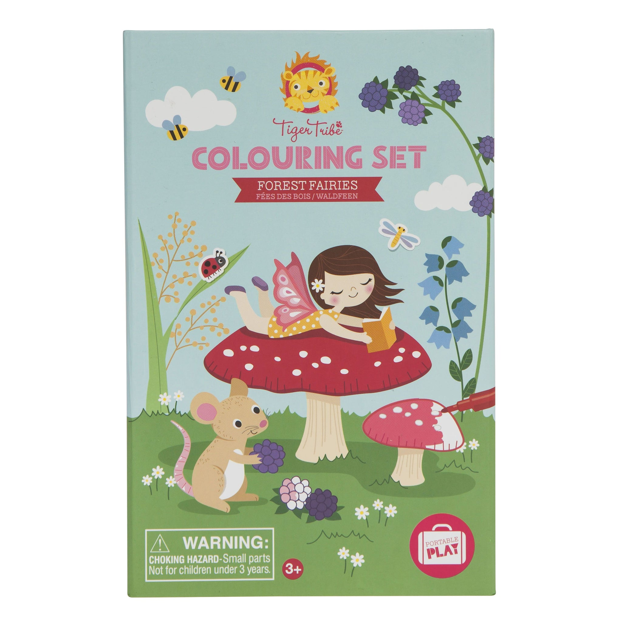 Tiger Tribe Colouring Set Tiger Tribe Activity Toys Forest Fairies at Little Earth Nest Eco Shop