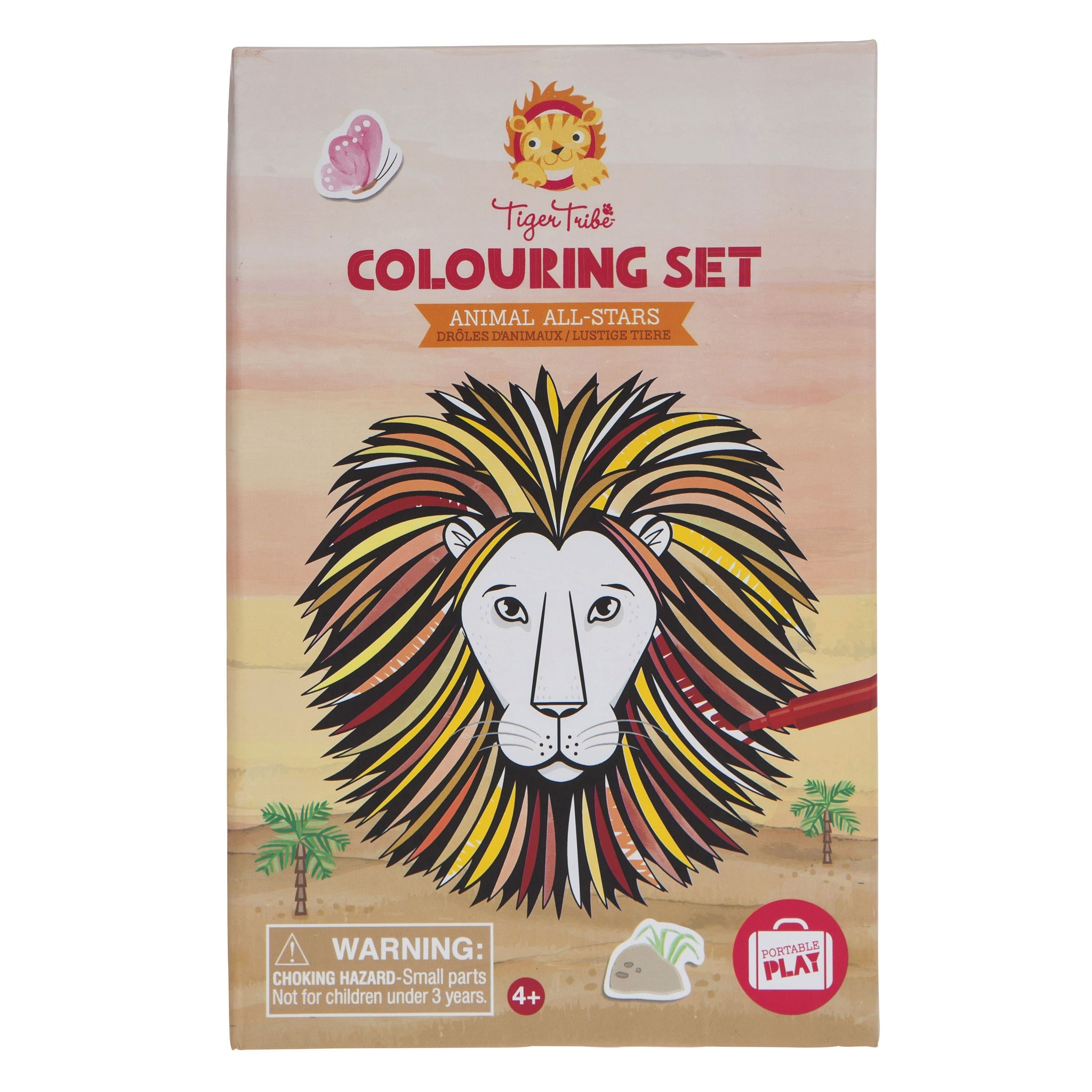 Tiger Tribe Colouring Set Tiger Tribe Activity Toys at Little Earth Nest Eco Shop