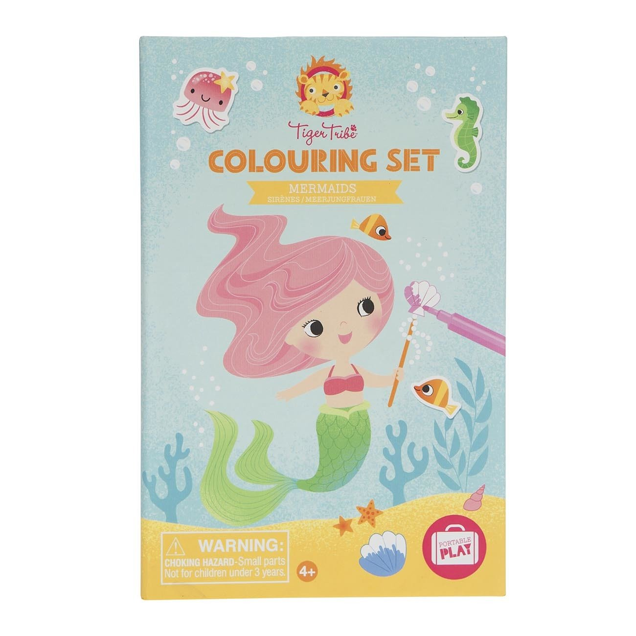 Tiger Tribe Colouring Set Tiger Tribe Activity Toys Mermaids at Little Earth Nest Eco Shop