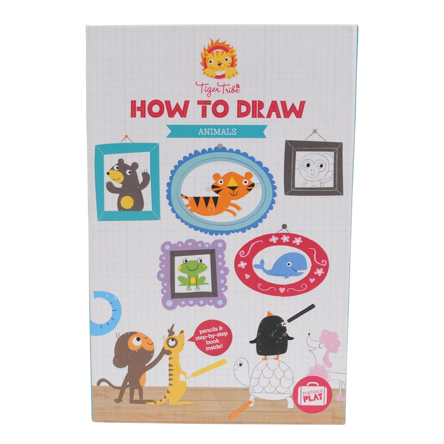 Tiger Tribe How to Draw Set Tiger Tribe Art and Craft Kits Animals at Little Earth Nest Eco Shop