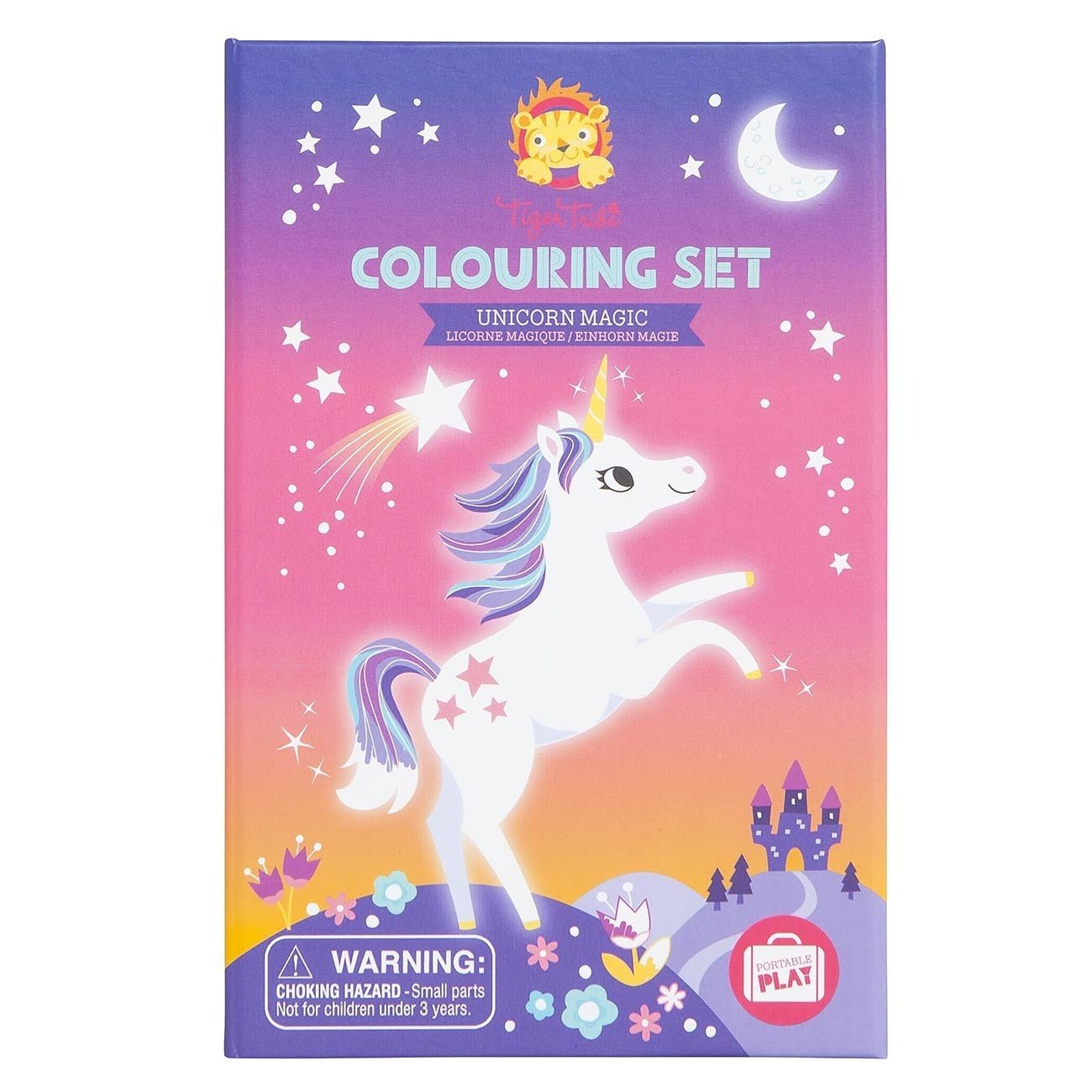 Tiger Tribe Colouring Set Tiger Tribe Activity Toys Unicorn Magic at Little Earth Nest Eco Shop