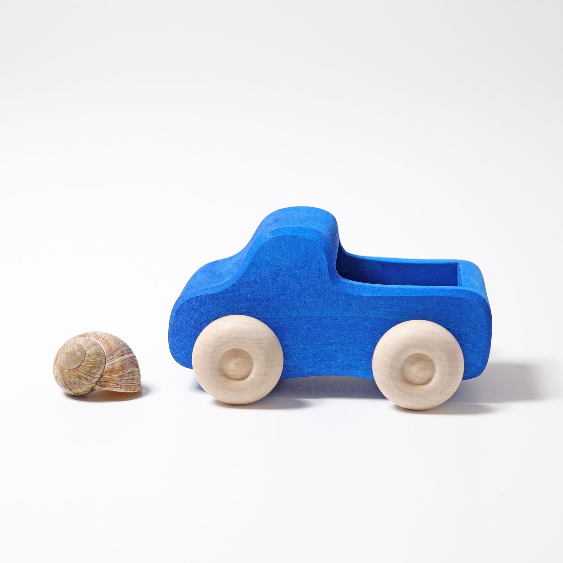 Grimms Blue Small Truck Grimms Wooden Toys at Little Earth Nest Eco Shop