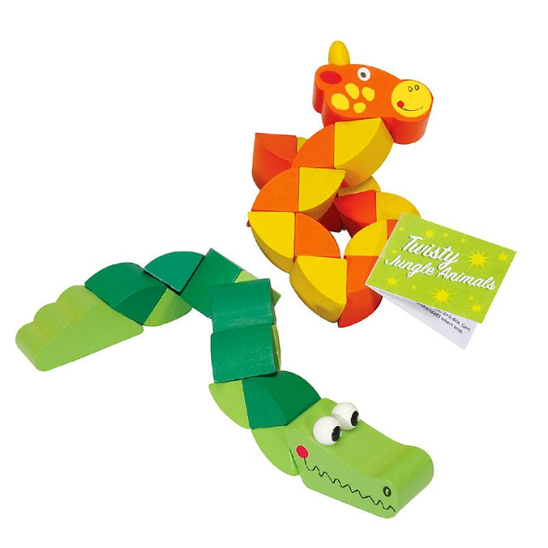 Twisty Wooden Jungle Animals Keycraft Activity Toys at Little Earth Nest Eco Shop