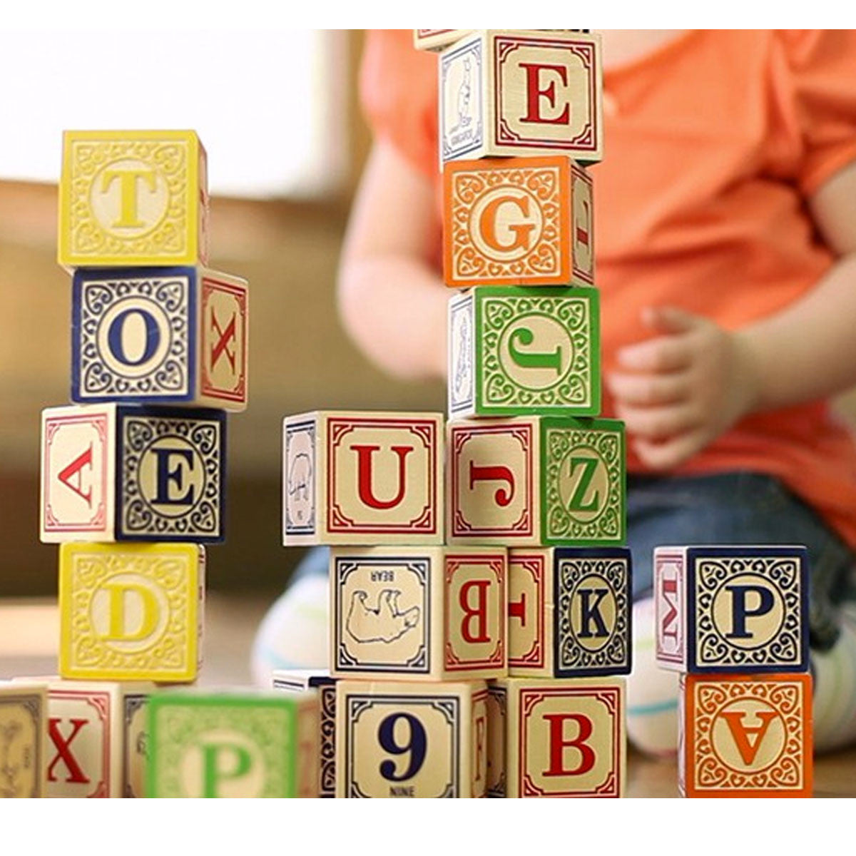 Uncle Goose Classic ABC Blocks Uncle Goose Wooden Blocks at Little Earth Nest Eco Shop