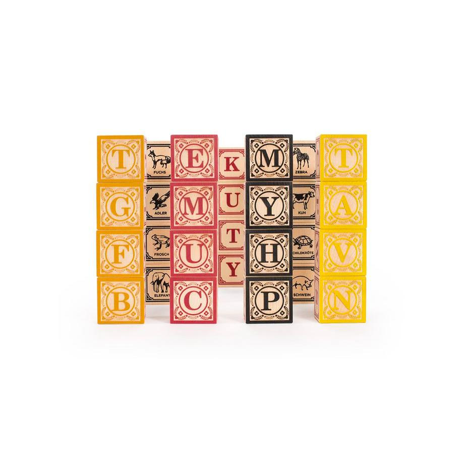 Uncle Goose Foreign Language Blocks Uncle Goose Wooden Blocks German at Little Earth Nest Eco Shop