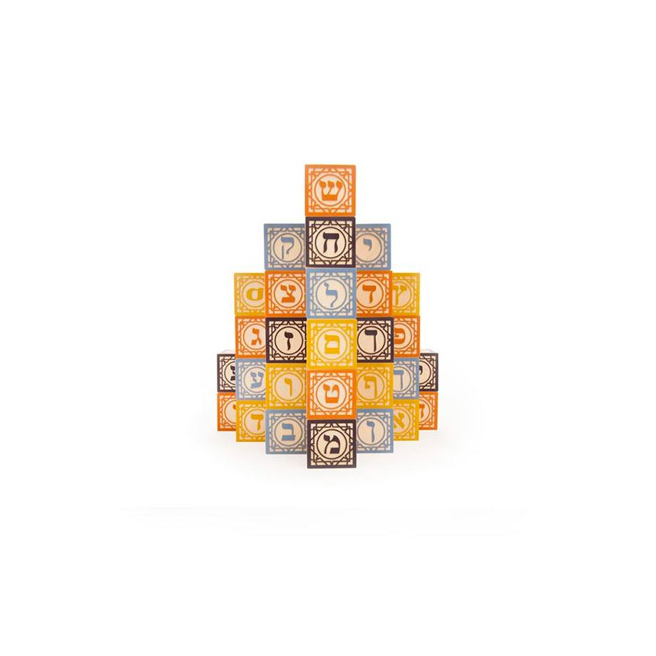 Uncle Goose Foreign Language Blocks Uncle Goose Wooden Blocks Hebrew at Little Earth Nest Eco Shop