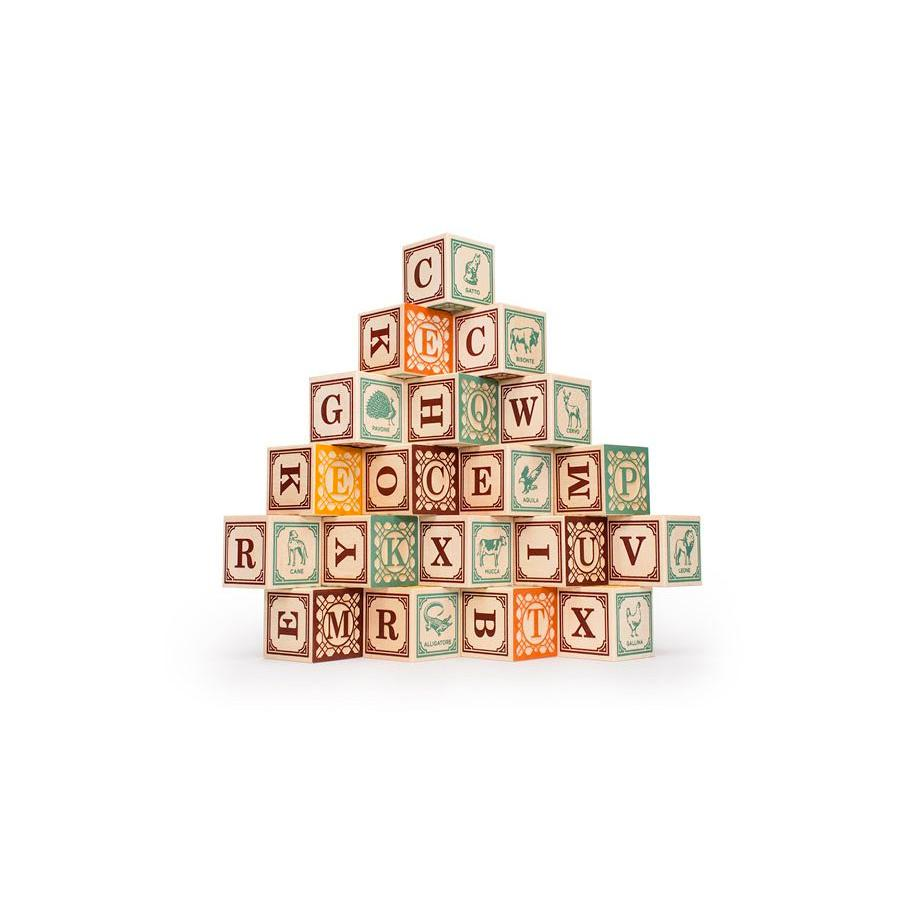 Uncle Goose Foreign Language Blocks Uncle Goose Wooden Blocks Italian at Little Earth Nest Eco Shop