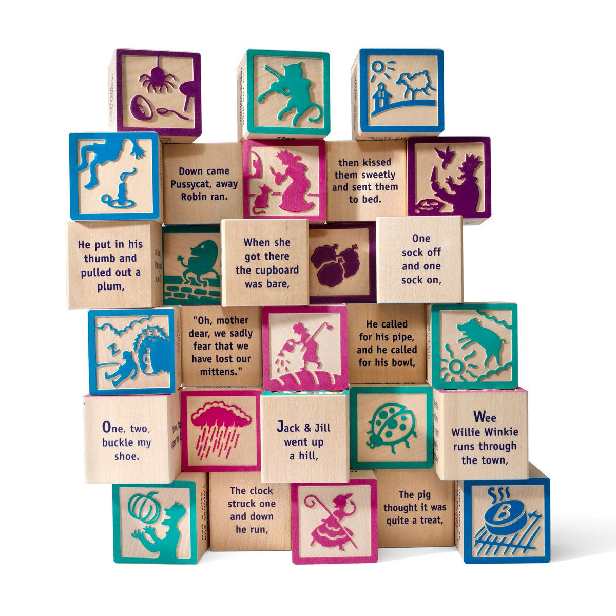 Uncle Goose 28 Nursery Rhyme Blocks Uncle Goose Wooden Blocks at Little Earth Nest Eco Shop