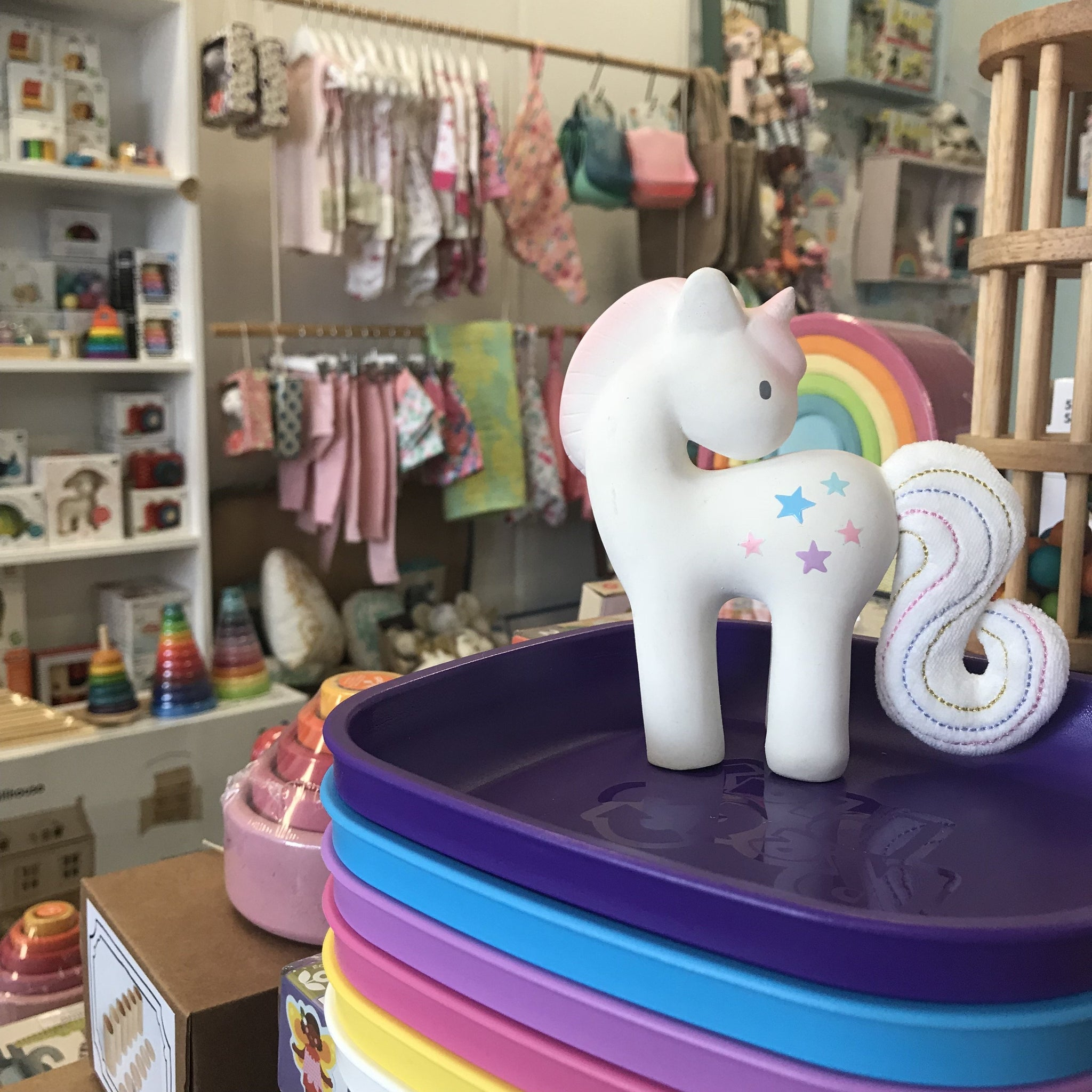 Unicorn Teether Toy Cotton Candy