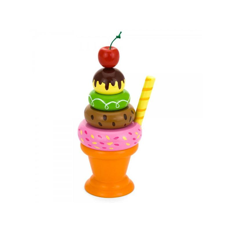 Viga Toys Wooden Ice-cream Sundae Play Food Viga Toys Toy Kitchens & Play Food at Little Earth Nest Eco Shop
