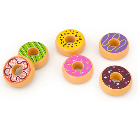 Wooden Toy Donuts Viga Toys General at Little Earth Nest Eco Shop