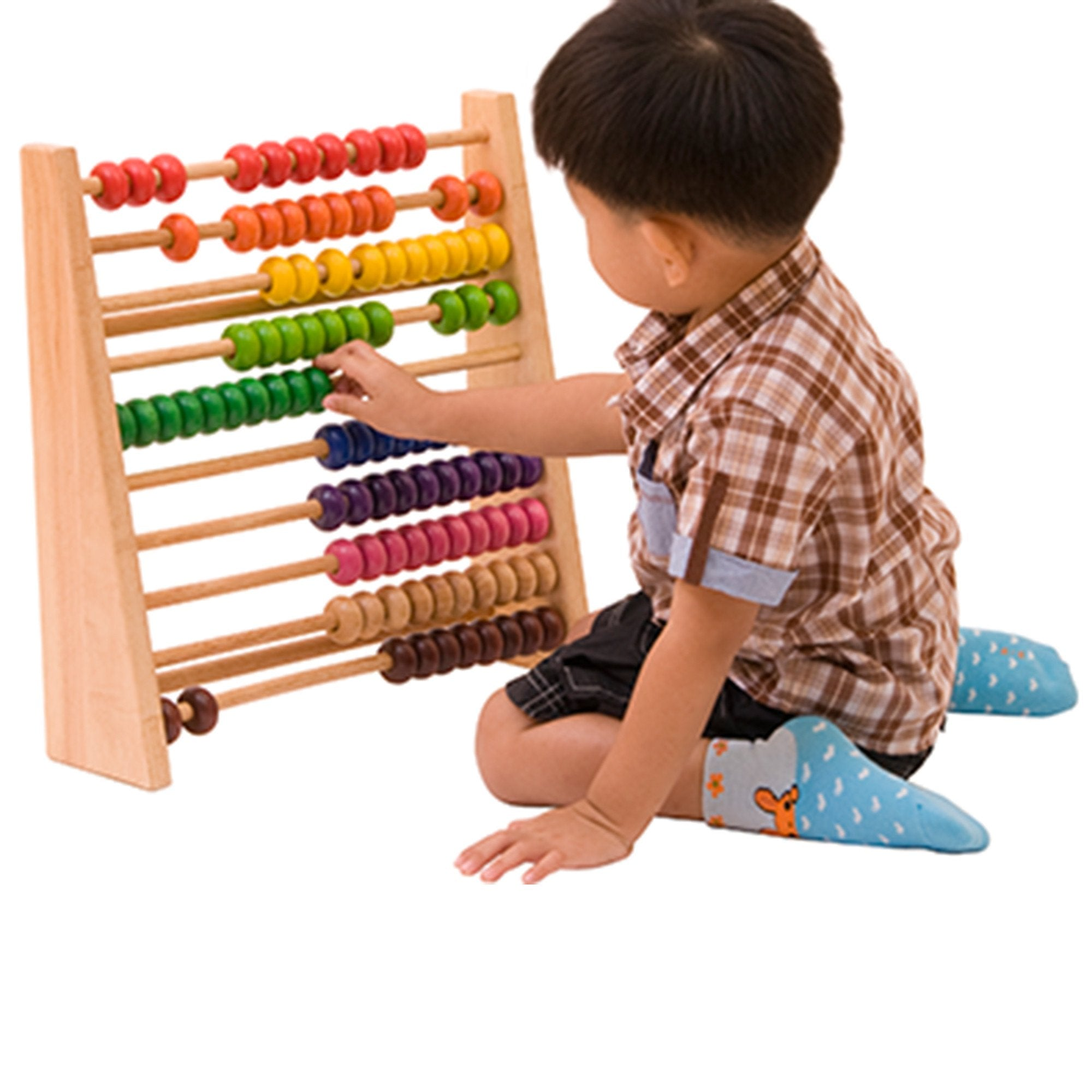 Voila Wooden Rainbow Abacus - Large Voila General at Little Earth Nest Eco Shop