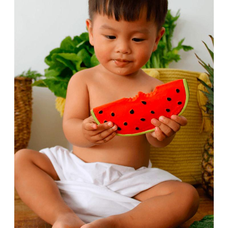 Wally the Watermelon Teether by Oli and Carol Oli and Carol Dummies and Teethers at Little Earth Nest Eco Shop
