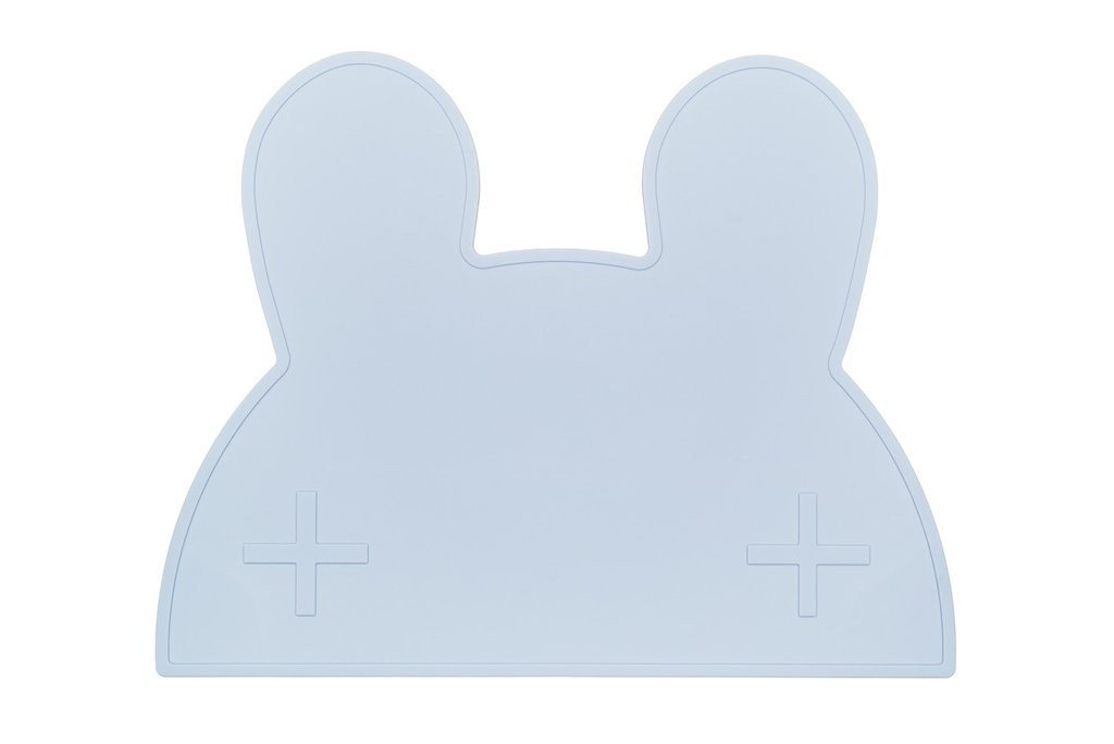 We Might Be Tiny Placemats We Might Be Tiny Dinnerware Bunny / Baby Blue at Little Earth Nest Eco Shop