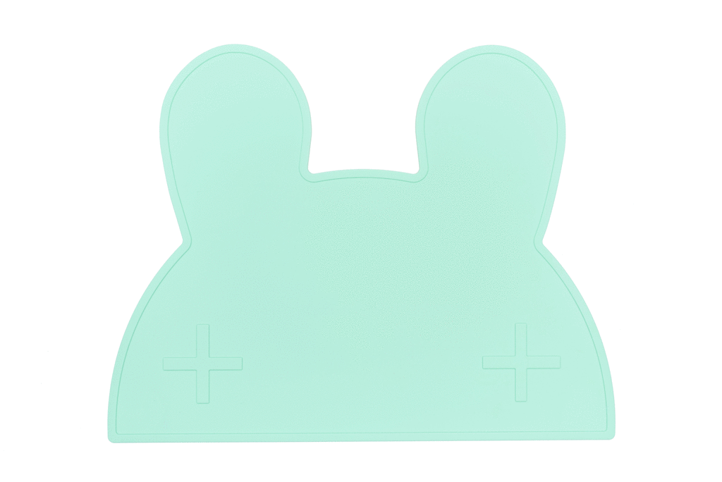 We Might Be Tiny Placemats We Might Be Tiny Dinnerware Bunny / Mint Green at Little Earth Nest Eco Shop