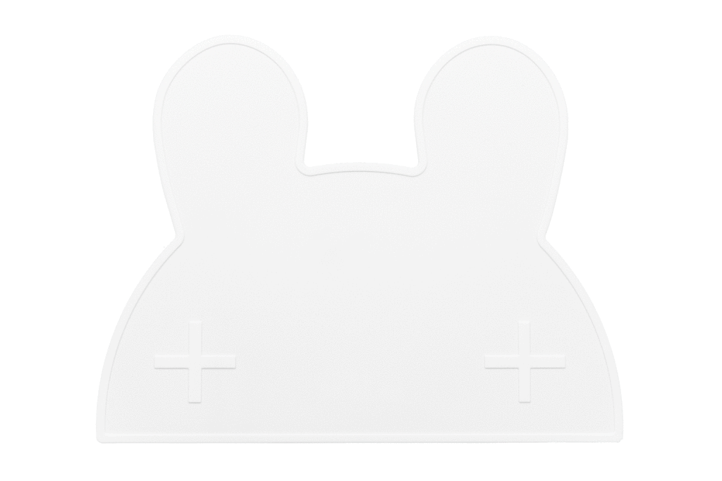 We Might Be Tiny Placemats We Might Be Tiny Dinnerware Bunny / White at Little Earth Nest Eco Shop
