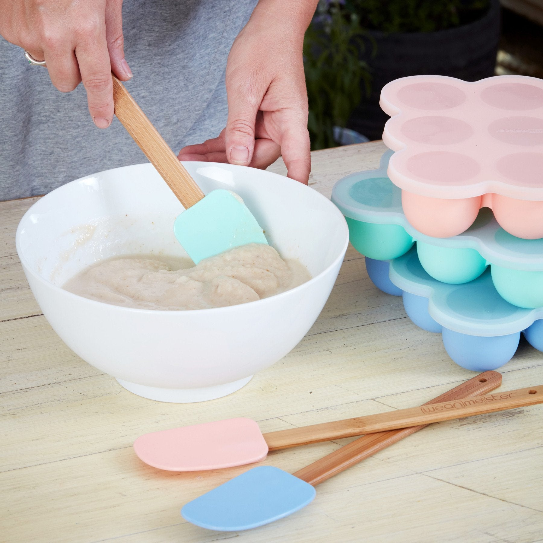 Wean Meister Silicone Spatula Wean Meister Baby Feeding at Little Earth Nest Eco Shop